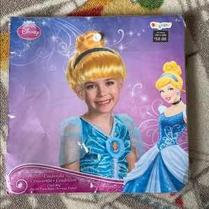 Disney Cinderella Wig Halloween Dress Up Blonde